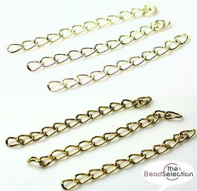 50 Extension Link Chain Tail Extender 50mm Silver or Gold Plated