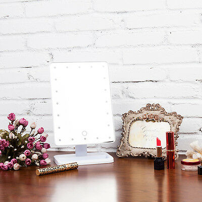 LED Touch Screen Portable 20 LEDs Lighted Makeup Vanity Mirror REH
