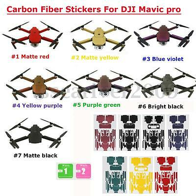 1PC 7 Color Carbon Fiber Stickers Decal Skin Protector for RC D JI Mavic Pro