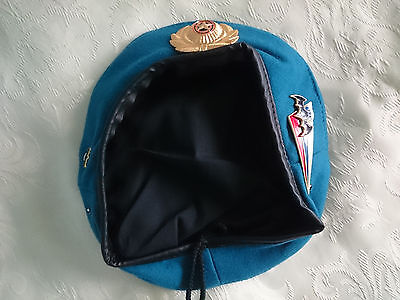 Russian blue beret. Russia Airborne Spetsnaz. Size 58 and  59. Badge
