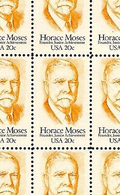 1984 - HORACE MOSES - #2095 Full Mint -MNH- Sheet of 50 Postage Stamps