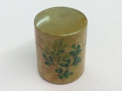Antique Treen Hand Painted Thimble Case 1900