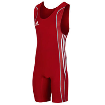 Special Offer - Adidas W8 Mens Wrestling Suit Red