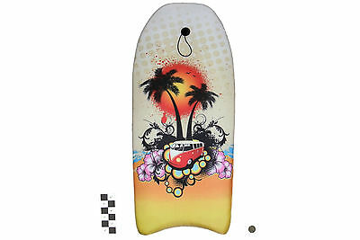 Nalu Surf Bus Campervan design EPS Bodyboard with Leash Available in 2 Sizes