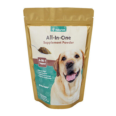 NaturVet ALL-IN-ONE Powder Dog and Cat Multi-Vitamin Supplement 13 oz (60 Days)