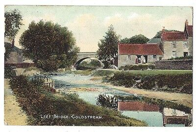 COLDSTREAM Leet Bridge, Postcard by Gibson Postally Used 1911