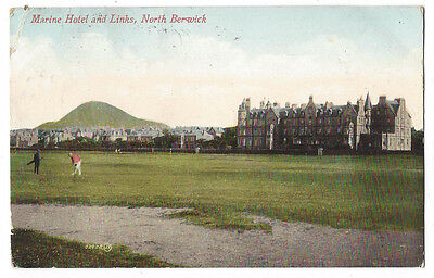 NORTH BERWICK Marine Hotel & Golf Links Postcard by Valentine Postally Used 1911