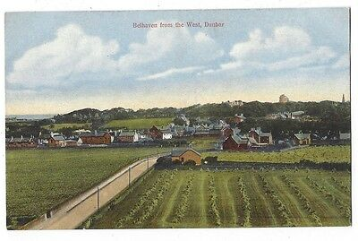 BELHAVEN from the West, Dunbar, Old Postcard by Spence, Unused