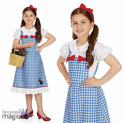 *Childs Girls Dorothy Fairytale Book Day Week Story Fancy Dress Costume Outfit*