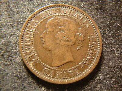 1858  VF XF   Canada Large Cent Decent Coin  NH #2