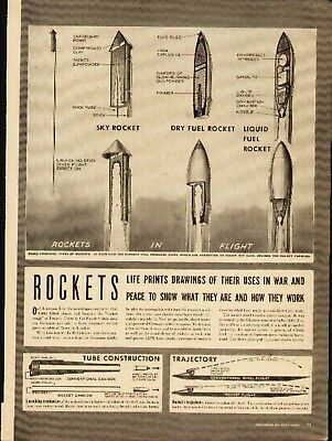Rockets (5-page 1944 Life Magazine article & pictorial)