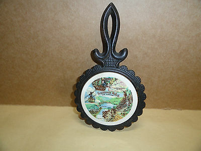 Franconia Notch New Hampshire -cast-iron-trivet-with-ceramic-tile  LOW$$