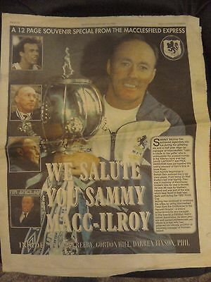 Macclesfield town 3 newspaper suppliments  1997 and 1998