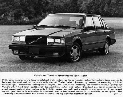 1987 Volvo 740 Turbo Factory Photo ca6120