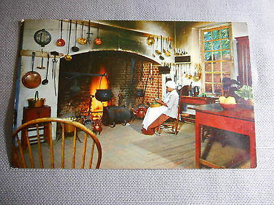 Vintage 1969 Photo Governor's Palace Kitchen Virginia Postcard USA Posted