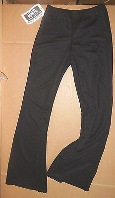 NWT Bootcut Stretch Black DANCE PANTS PULLUP ch/ladies Unisex 71002 Theatrical