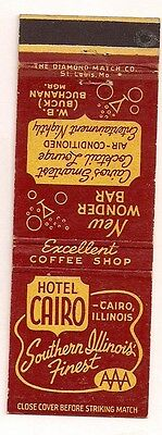 Hotel Cairo with the Wonder Bar Cairo IL W.B. Buchanan Mgr. Matchcover Alexander