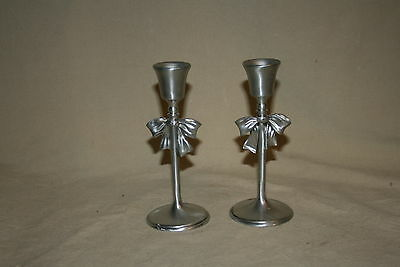 Pair Seagull Pewter Candle Holders 41086