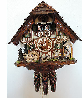Orginal black forest cuckoo clock  8day music  movement dancing people
