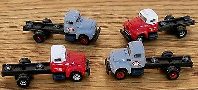 N Classic Metal Works Mini Metals~4~MIXED TRACTORS- 6 Wh-Great for kit bashing