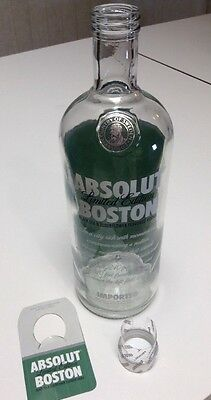 Absolut Vodka Boston Limited Edition Empty Bottle +Tag RARE Red Sox Collectible
