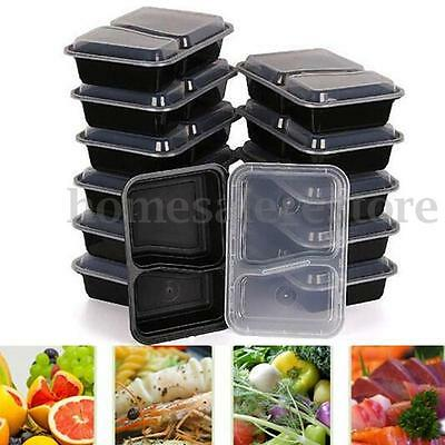 10pcs Meal Prep Containers Plastic Food Storage Reusable Microwavable Lunch Box