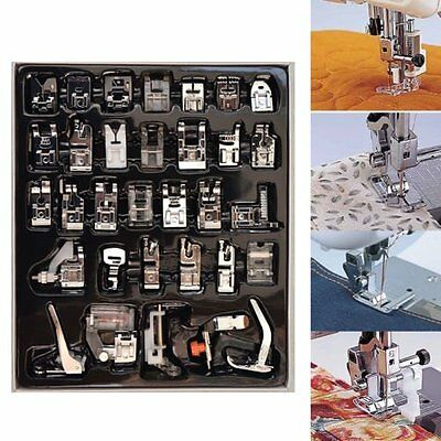 32Pcs Domestic Sewing Machine Presser Foot Set For Janome Brother Singer G