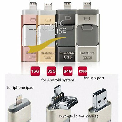 32 64 128 256GB i Flash Drive USB OTG Device USB Stick For iPhone 5 6 7 Android