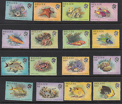 BELIZE :1984 Marine Life definitives  set SG766-81 MNH