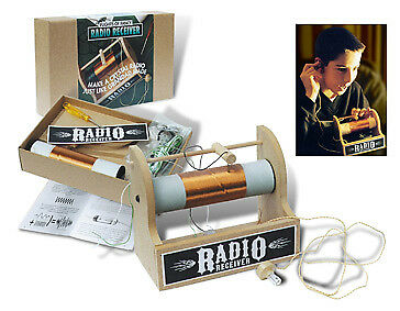 Crystal Radio Receiver Kit - A radio from yesteryear