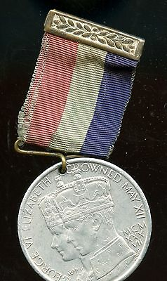 1937 NEWFOUNDLAND GEORGEVI CORONATION MEDAL with ribbon F94