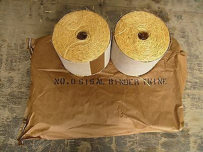 Sisal Binder Twine  No 0  Brand new Excellent Quality (6 balls)