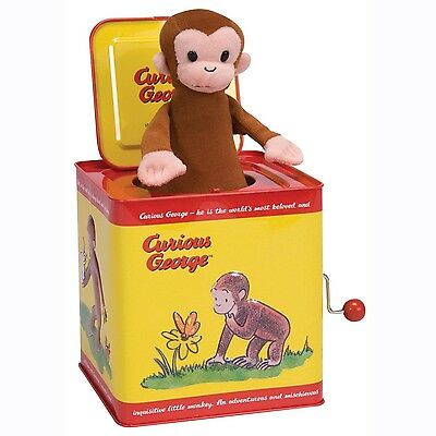 Curious George Jack In The Box Tin Metal Schylling Classic Kids Toy Monkey NEW