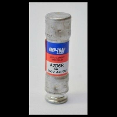 Ferraz Shawmut A2D6R Lot of 10 New Fuses 6 Amp 250V Amp-Trap 2000 Fuse 6A NNB