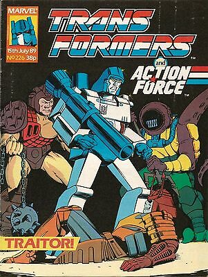 TRANSFORMERS AND ACTION FORCE # 226 / DEATH'S HEAD / 15th JUL 1989 / MARVEL UK