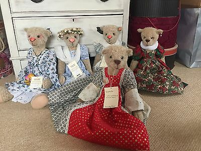 Wendy Woo Creations.RRSP £175.EACH 6 Bears  For Sale. Value £950.