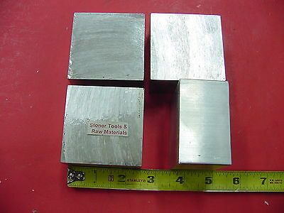 "4 Pieces 2-1/2""x 2-1/2"" ALUMINUM 6061 SQUARE BAR 1.5"" long Solid T6 Mill Stock"