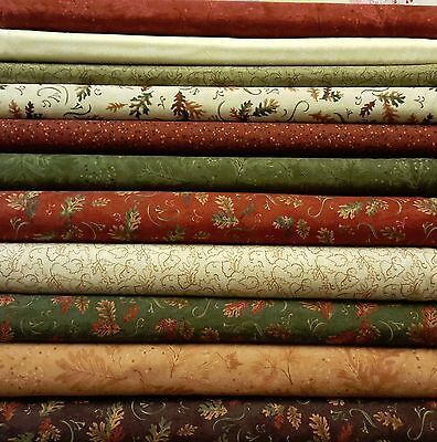"""Cosy 100% Brushed Cotton Fabrics - 44/45"""" Wide Autumn Leaf Designs"""