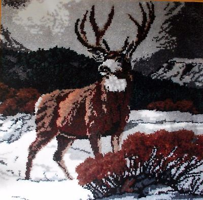 "Latch Hook  Large Animal Rug Making Kit  ""majestic Deer"""