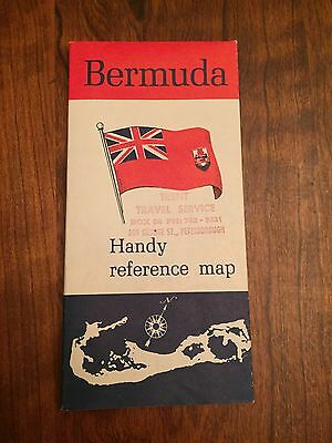 Fabulous Reference Map For Bermuda. Local Fish.Full Color.  EUC.