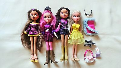 4 Bratz Dolls With Accessories (Lot 1)