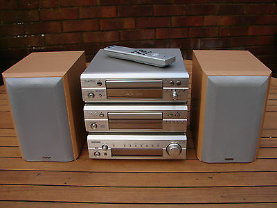 Denon D-F101 Separates HiFi Stereo System CD Radio Cassette Mission Speakers