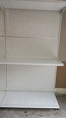 "White Gondola Shelving, 22"" Deep Shelves"
