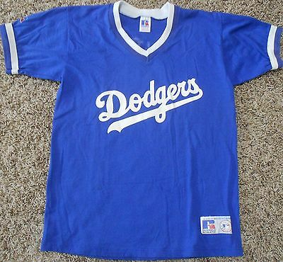 Los Angeles Dodgers Little League Jersey - Youth XL - Blue Russell Athletic