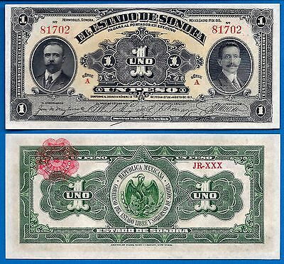 Mexico/Revolutionary S-1071 One Peso Year 1915Banknote South America