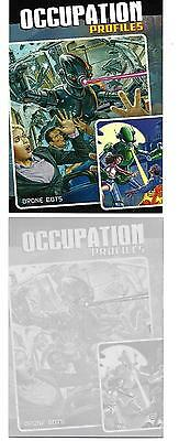 "Mars Attacks Occupation Topps no.73 ""DRONE BOTS"" magenta  printing plate 1/1"