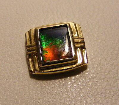 Amazing Korite Ammolite Gem 14k Gold Tie Pin...Boxed