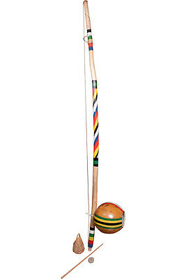 Mid-East Berimbau Painted Spirals Large Gourd (2 Boxes)