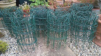 40 METERS GARDEN BORDER FENCE 40cm HIGH PVC GREEN WIRE MESH LAWN EDGING FENCING