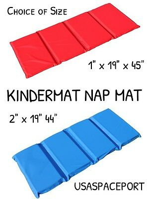 "Kids Vinyl KINDERMAT NAP MAT Daycare Preschool Waterproof Mat 1"" or 2"" thick Pad"